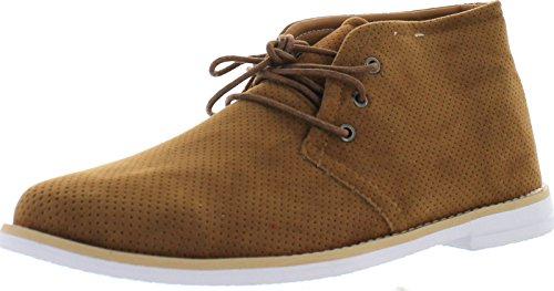 Franco Vanucci Men's Faux-Suede Leather Chukka Boot,Tan,13