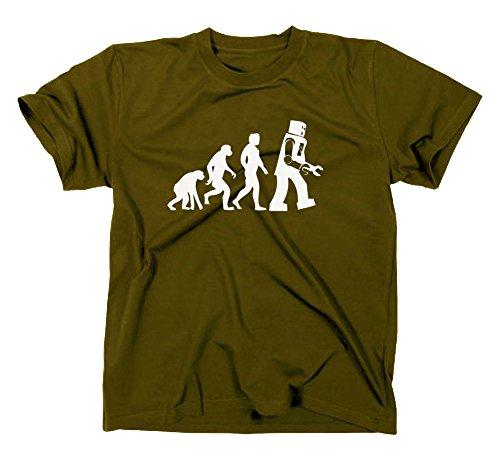 Something Somewhere Robot Evolution T-Shirt, Nerd, bang, Oliv, M