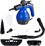 GOFLAME Steam Cleaner 1050W Handled Multi-Purpose Powerful Steam, Sanitizer, Steamer, Steam Iron, Remove Stains/Grease from Bathroom, Kitchen (Blue)