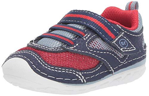 Stride Rite Boys' SM Adrian Sneaker, Navy/red, 5 M US Toddler