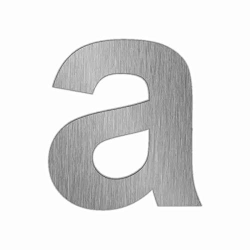Hausnummern Edelstahl Zahlen 0-9 und Buchstaben a - f mit Gewindestiften zur Befestigung 591_gesamt (a)