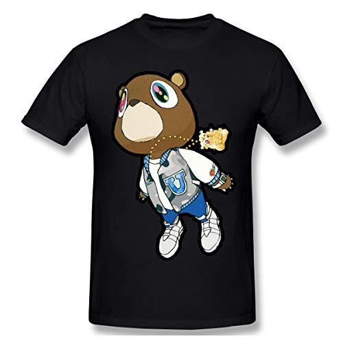 Others Cool Kanye West Bear Men's Short-Sleeved Standard T-Shirt Black LT Shirt