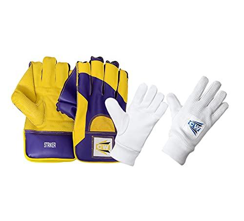 CW Striker Wicket - Guantes deportivos con guantes internos acolchados para críquet