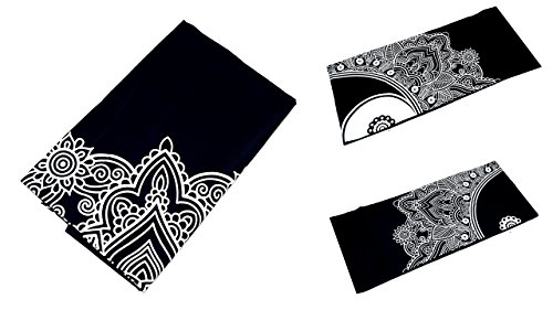 Grande Ambe Premium sábana sábana cama de ropa de cama 100% algodón 210x 230cm blanco y negro Ornament elegante nº D