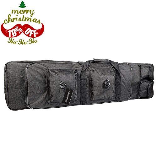 Tactical Rifle Case Double Gun Bag Military Shotgun Bag Gun Storage Backpack with Padded Shoulder Strap Fits Max Length 39