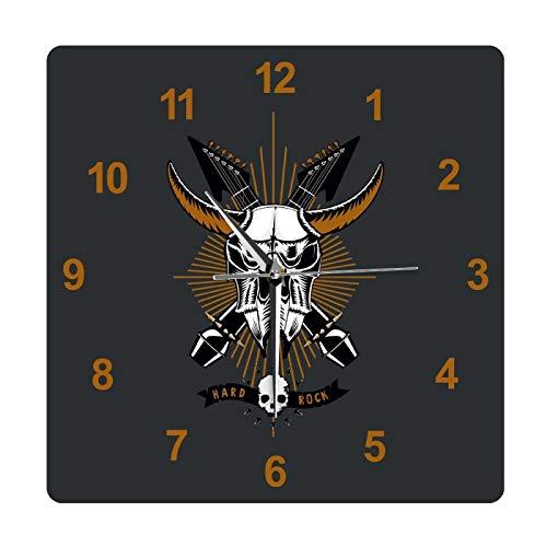 Música Rock con cráneo de Toro Reloj Colgante de...