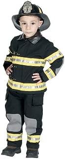 Jr. Fire Fighter Suit with Helmet, Size 4/6 (Black)