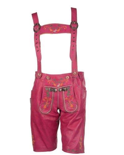 Maze Lederhose pink XS