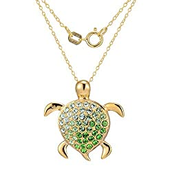 18K Gold Turtle Necklace