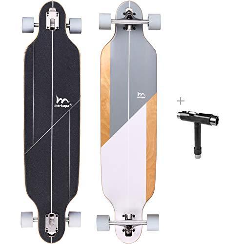 M Merkapa 41 Inch Drop-Through Longboard Skateboard Cruiser (Acanthurus MATA)