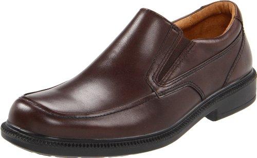 Hush Puppies Men's Leverage Slip-On,Brown Leather,7 M US