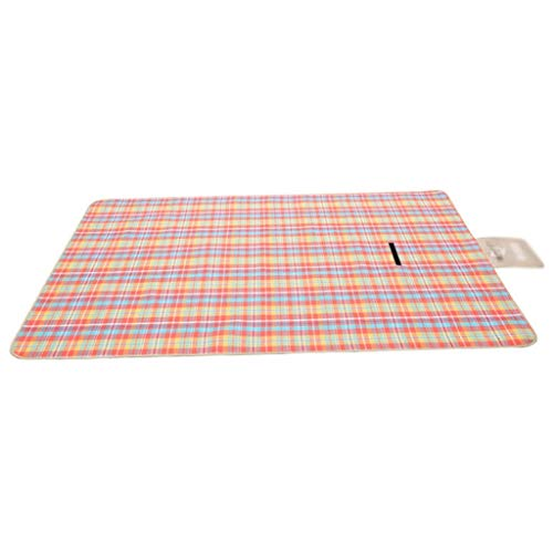 Zixin Outdoor Waterproof Picnic Mat Creative Thickening Picnic Mat Spring Tour Wild Picnic Cloth (Color : C, Size : XL) (Color : B, Size : Small)