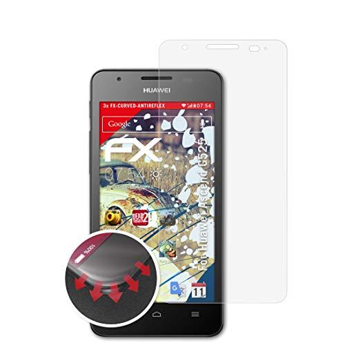 atFolix Schutzfolie kompatibel mit Huawei Ascend G525 Folie, entspiegelnde & Flexible FX Bildschirmschutzfolie (3X)