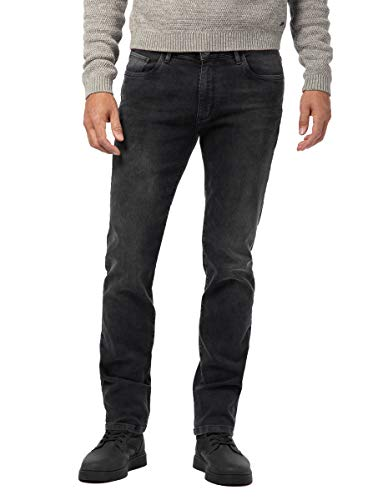 Pioneer Herren Rando RED Edition Straight Jeans, Schwarz (Black Used with Buffies 114), W42/L30 (Herstellergröße: 4230)