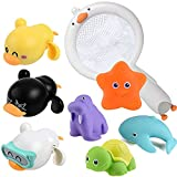 Meijoy Baby Bath Toys for Toddlers 1-3 - Pool Toys for Toddlers Age 2-4 Floating Wind-up Ducks Swimming Pool Games Water Play Set Gift for Bathtub Shower Beach Infant Toddlers Kids Boys Girls