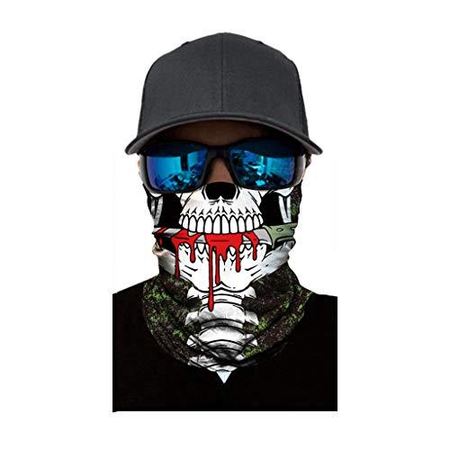 Winddichte Gesichtsmaske für Erwachsene, Multifunktionaler Schlauchschal, Outdoor-Stirnbänder, Kopfbedeckung, Gedruckt Haarband Für Herren Damen, Headwrap Motorrad Sturmhaube Sport-Halstuch