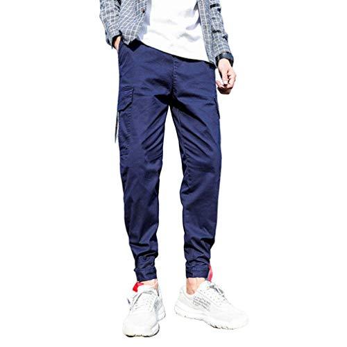 nobranded Herrenhose Retro Camouflage Casual Cargo Cotton Combat Pants Jogger Kordelzug Verstellbare Knöchelöffnungshose mit Mehreren Taschen