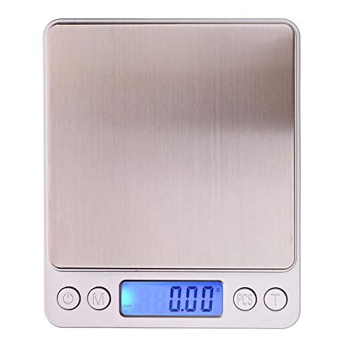 Ownsig 500g x 0.01g gram Digital de Bolsillo joyería de la Escala de Peso de Alta precisión Escalas balanza electrónica