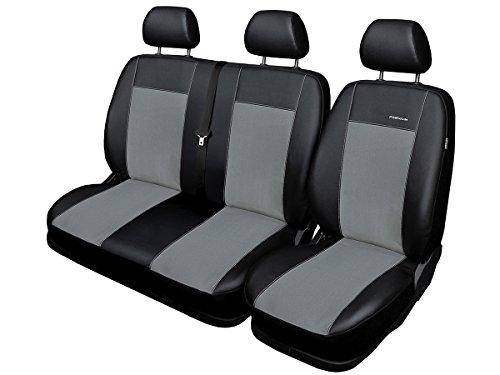 Sprinter Sitzbezüge nach Maß Autoplanen perfekte Passform Schonbezüge Sitzschoner Velour + Strickpolster ®Auto-schmuck (Premium Sprinter II grau)