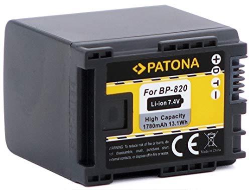 PATONA Qualitätsakku für Canon BP-820 BP-819 (echte 1780mAh!) mit Infochip - Intelligentes Akkusystem - 100% kompatibel
