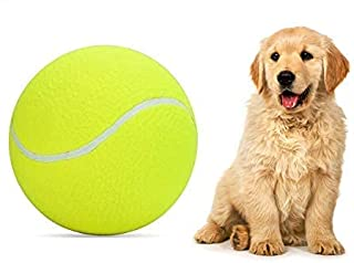 """Pomeat Big Tennis Ball for Dogs 9.5"""" Inflatable Giant Tennis Balls Pet Chew Toy"""