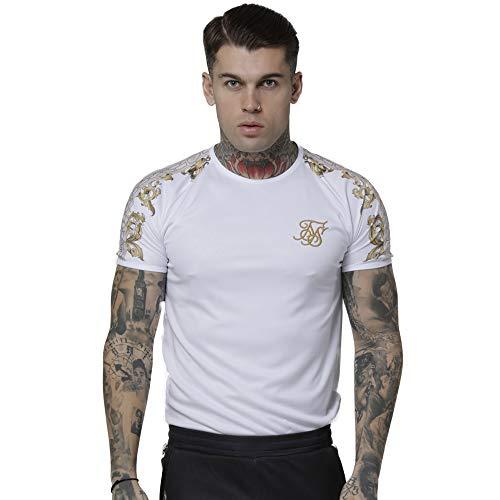 T Shirt Manica Corta uomo Siksilk Bianca