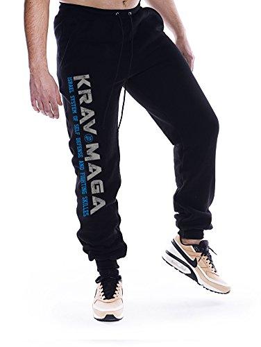 Dirty Ray Artes Marciales Krav Maga pantalón de chándal hombre con bajo elástico SDKM1S