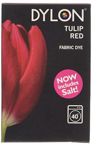 Dylon Waschmaschinenfarbe - Tulpen Rot 350g Inklusive Salz