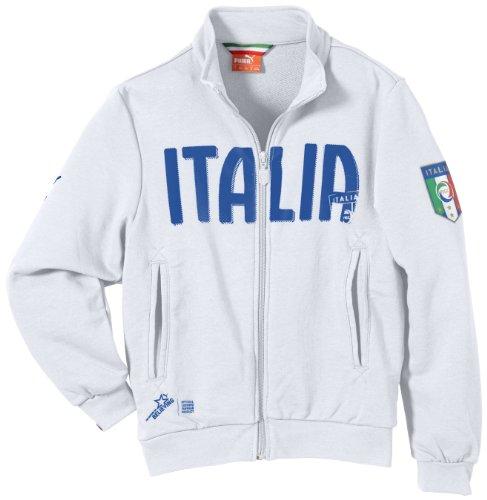 PUMA Kinder Italien Jacke FIGC Italia Track Jacket, White, 176