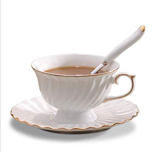 APCHY keramische koffiebeker en schotel set maken speciale koffie zoals cappuccino en latte parel blauwe Latte Cup (2 sets)