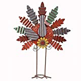 Unique Design - Our metal turkey is specially designed to have carved body and curved feather, presenting a lifelike appearance. It is crafted with a yellow flower, a round orange turkey body and colorful feathers, all of which suggest the fulfillmen...
