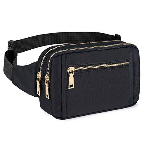 Fanny Packs for Women Men, Fashion Waist Pack Belt Bags for Teen Girls with Multi-Pockets Adjustable Belts, Cute Fanny Pack Bum Bag for Disney Travel Hiking Cycling Running