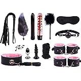 LQZYTY - Gafas de sol para mujer con muñequeras suaves y cómodas, correas de tobillo, esposas para la boca, la cama Feeke Bed Bänduge, juego de 14 camisetas, rosa
