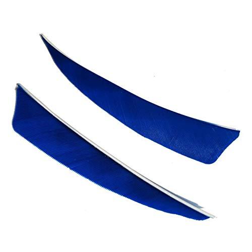 Tiro con Arco Plumas de Flecha Plumas Naturales para Flechas Plumas Flecha para Caza Flechas de Bricolaje Plumas para Flechas Fletches para Flechas de Carbono Flechas Fletching Plumas (50 Piezas )