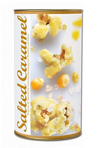 Gourmet Popcorn zum Selber-Backen, gesalzenes Karamell, raffinierte Geschenk-Idee, Party-Snack, Salted Caramel Popcorn von Feuer & Glas 361g