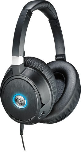 Audio-Technica ATH-ANC70 Cuffie Active Noise Cancelling, Nero