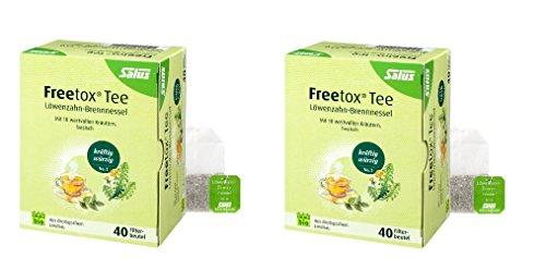 Salus Freetox Tee Löwenzahn-Brennessel, Bio, mit 10 wertvollen Kräutern, basisch, Filterbeutel, 2-er Pack (2 x 72g)