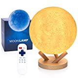Moon Lamp, Sliding Control Moon Light, LOGROTATE 2021 Upgraded Version 18 Colors Moon Night Lamp with Unique Stand, Remote&Sliding Control, Timing, USB Rechargeable, Gifts for Kid Friend Lover 6.0 in