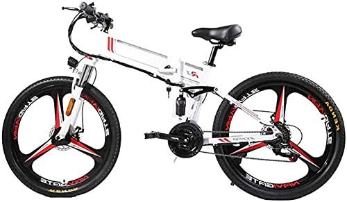 Bicicleta electrica Bicicleta plegable de la bicicleta de montaña eléctrica 350W 21 velocidad de la aleación de magnesio llanta plegable bicicleta ultralight oculto batyyyered bicicleta adulto movilid