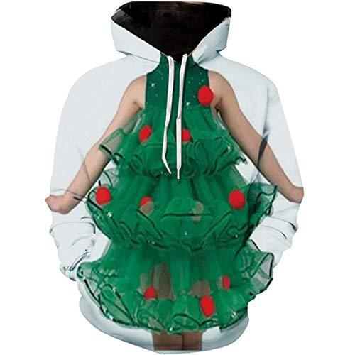BAGFP Hoodie Sweater Weihnachtsbaum Digitaldruck Hoodie Europäische Und Amerikanische Männer 3D Sweatshirt S-4Xl