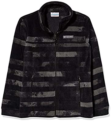 Columbia Boys' Toddler Zing III Fleece Jacket, Black Tie Dye Stripe, 3T