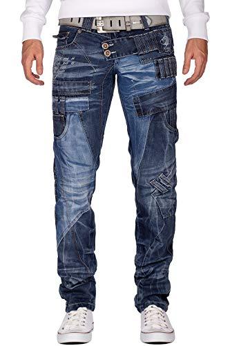 Kosmo Lupo Herren Jeans KM050, Modell-19 - Kosmo Lupo, 36W / 34L