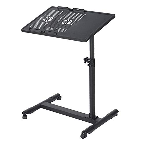 Nvshiyk Computer Desk Workstation Portable Adjustable Height 360° Rotating Notebook Computer Table Mobile Notebook Computer Stand Rotating Desk for Home Office (Color, Size : One size)