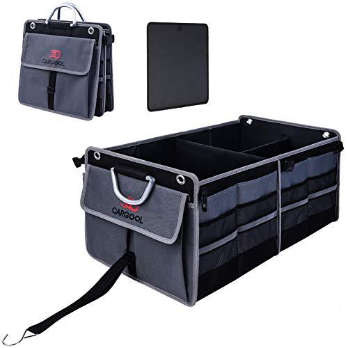 CG CARGOOL Faltbarer Kofferraum-Aufbewahrungs-Organizer, Kofferraumtasche Kofferraum Organizer Auto, Faltfächer Sind leicht Erweiterbar und für Jedes Auto, SUV, Mini-Van-Modellgröße (Grau) Geeignet