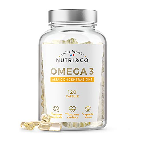 Omega 3 Olio di Pesce Selvatico 2000 mg | Integratori Alimentari Puri di Acidi Grassi Alta Concentrazione in EPA, DHA, Vitamina E | 120 Licaps Capsule Inodore | Pesca Sostenibile | Prodotto in Francia
