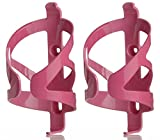 50 Strong Bicycle Water Bottle Holder 2 Pack - Easy to Install Bike Cage - Made in USA (Pink)