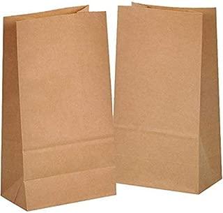 50 piezas Bolsas de Papel Regalo 14 x 26 x 8 cm - Bolsa Biodegradable Regalos Comunión para Invitados o para Guardar Comida, Semillas Flores, Dulces, Chuches, Pan - Bolsitas Kraft Marrón kgpack