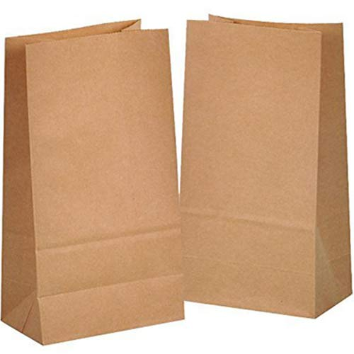 bffb45f04 100 Kraft marrón bolsas de papel con base 14 x 8 x 26 cm, 70