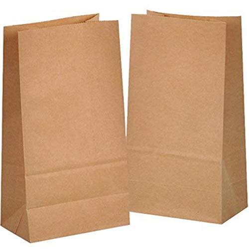 kgpack 100x Bolsas de Papel Kraft DIY 14 x 26 x 8 cm | Bolsas de Papel Kraft para niños | Calendario de adviento | Bolsa de Regalo de Fondo Plano | Bolsa de Papel de Alimentos