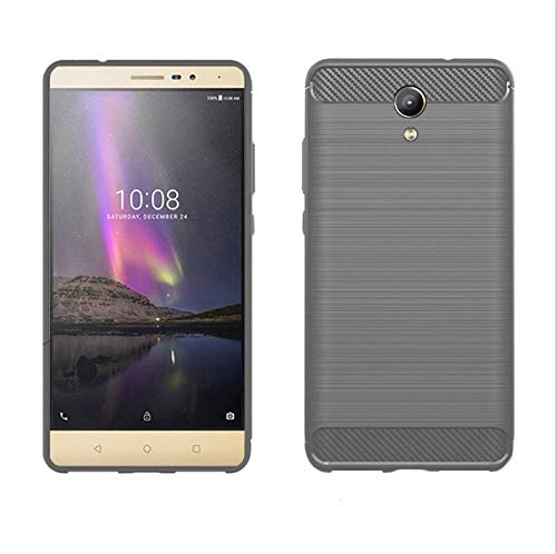 König Design Handy-Hülle kompatibel mit Lenovo Phab2 Silikon Hülle Hülle Sturzsichere Back-Cover Handyhülle - Carbon - Grau